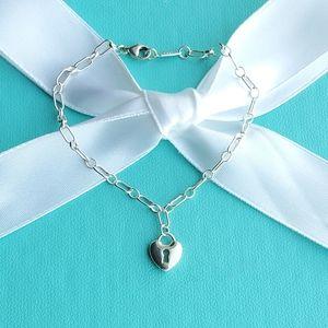 Retired mini heart lock bracelet